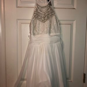 White size 9 homecoming dress